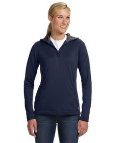 Russell Athletic FS8EFX Ladies' Tech Fleece Quarter-Zip Pullover Hood