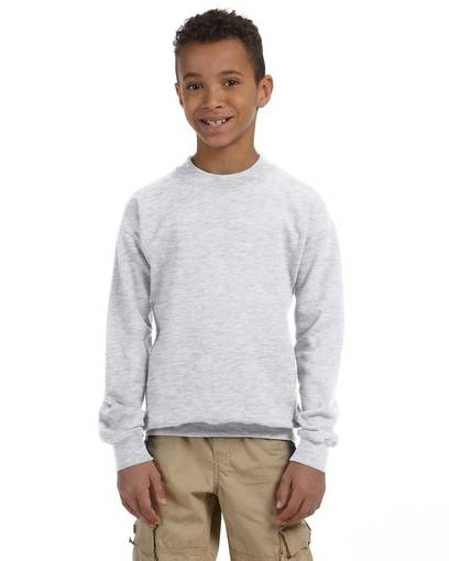 gildan g180b youth heavy blend™ 8 oz., 50/50 fleece crew front image