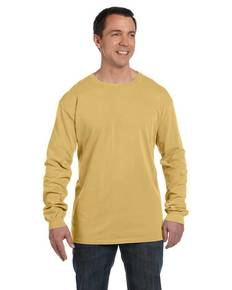 Authentic Pigment 1971 5.6 oz. Pigment-Dyed & Direct-Dyed Ringspun Long-Sleeve T-Shirt