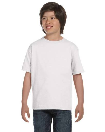 fruit of the loom hd6by youth 6 oz., 100% cotton lofteez hd® t-shirt front image