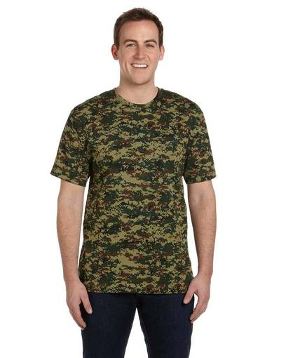 code five ls3906 men's camo t-shirt front image