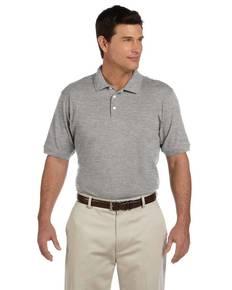 Harriton M100 Men's 6.5 oz. Ringspun Cotton Piqué Short-Sleeve Polo Shirt