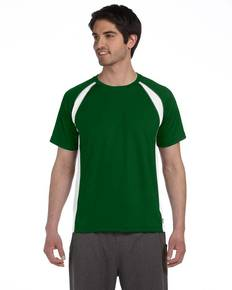 All Sport M1004 Unisex Colorblocked Short-Sleeve T-Shirt
