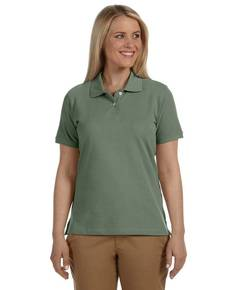 Harriton M100W Ladies' 6.5 oz. Cotton Piqué Short-Sleeve Polo Shirt