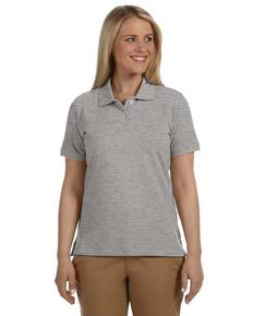 Harriton M100W Ladies' 6.5 oz. Cotton Piqué Short-Sleeve Polo Shirt