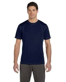 All Sport M1021 Men's Short-Sleeve Interlock Pieced T-Shirt