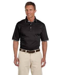 Harriton M140 Men's 5.9 oz. Cotton Jersey Short-Sleeve Polo with Tipping