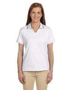 Harriton M140W Ladies' 5.9 oz. Cotton Jersey Short-Sleeve Polo with Tipping