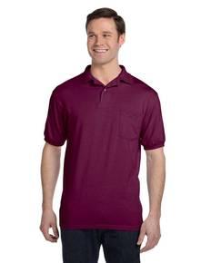 hanes-054p-adult-5-2-oz-50-50-ecosmart-jersey-pocket-polo
