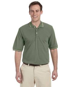 Harriton M270 Men's 5.6 oz. Tipped Easy Blend™ Polo
