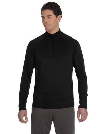 all sport m3006 unisex quarter-zip lightweight pullover front image