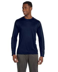 All Sport M3021 Men's Long-Sleeve Interlock Pieced T-Shirt