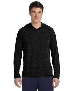 All Sport M3101 Men's Performance Triblend Long-Sleeve Hooded Pullover