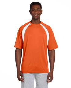 Harriton M322 Adult 4.2 oz. Athletic Sport Colorblock T-Shirt