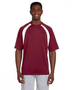 Harriton M322 Adult 4.2 oz. Athletic Sport Colorblock T-Shirt
