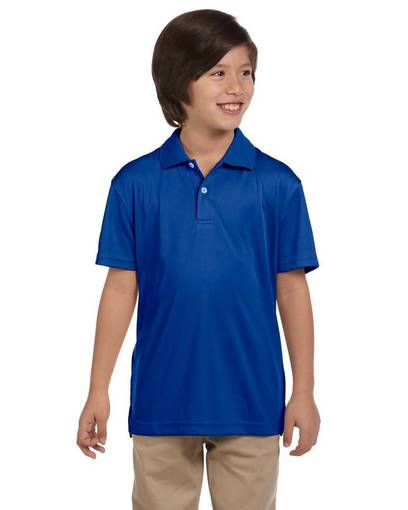 harriton m353y youth double mesh polo front image