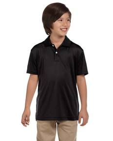 Harriton M353Y Youth Double Mesh Polo