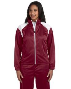 Harriton M390W Ladies' Tricot Track Jacket