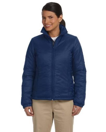 harriton m797w ladies' essential polyfill jacket front image