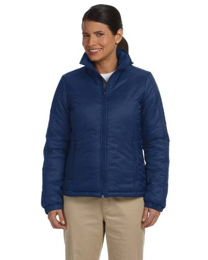 harriton m797w ladies' essential polyfill jacket front image