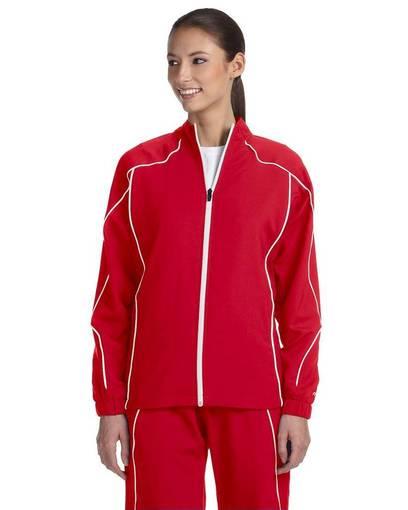 russell athletic s81jzx ladies' team prestige full-zip jacket front image