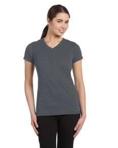 All Sport W1105 Ladies' Performance Triblend Short-Sleeve V-Neck T<span>&#8209;</span>Shirt