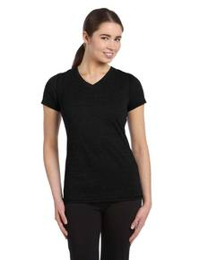 all-sport-w1105-ladies-39-performance-triblend-short-sleeve-v-neck-t-shirt
