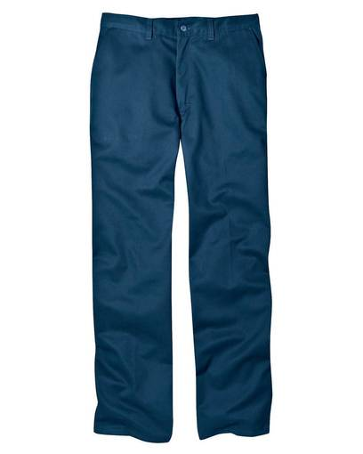 dickies wp314 8 oz.  relaxed fit cotton flat front pant front image
