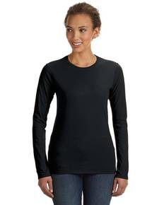 Anvil 374L Ladies' Junior Fit Ringspun Long-Sleeve T-Shirt