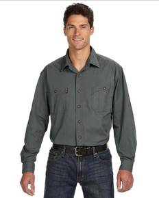 Dri Duck 4285 Men's Long-Sleeve Brick Workshirt