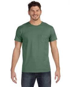 Hanes 498P Adult 4.5 oz., 100% Ringspun Cotton nano-T® T-Shirt with Pocket
