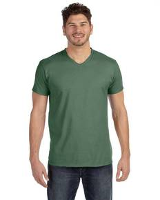 Hanes 498V Adult 4.5 oz., 100% Ringspun Cotton nano-T® V-Neck T-Shirt