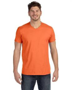 Hanes 498V Adult 4.5 oz., 100% Ringspun Cotton nano-T® V-Neck T-Shirt