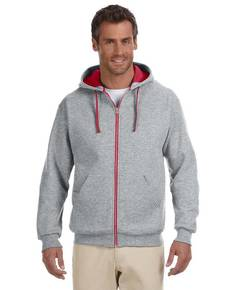Jerzees 93CR Adult 8 oz. NuBlend® Contrast Full-Zip Hood