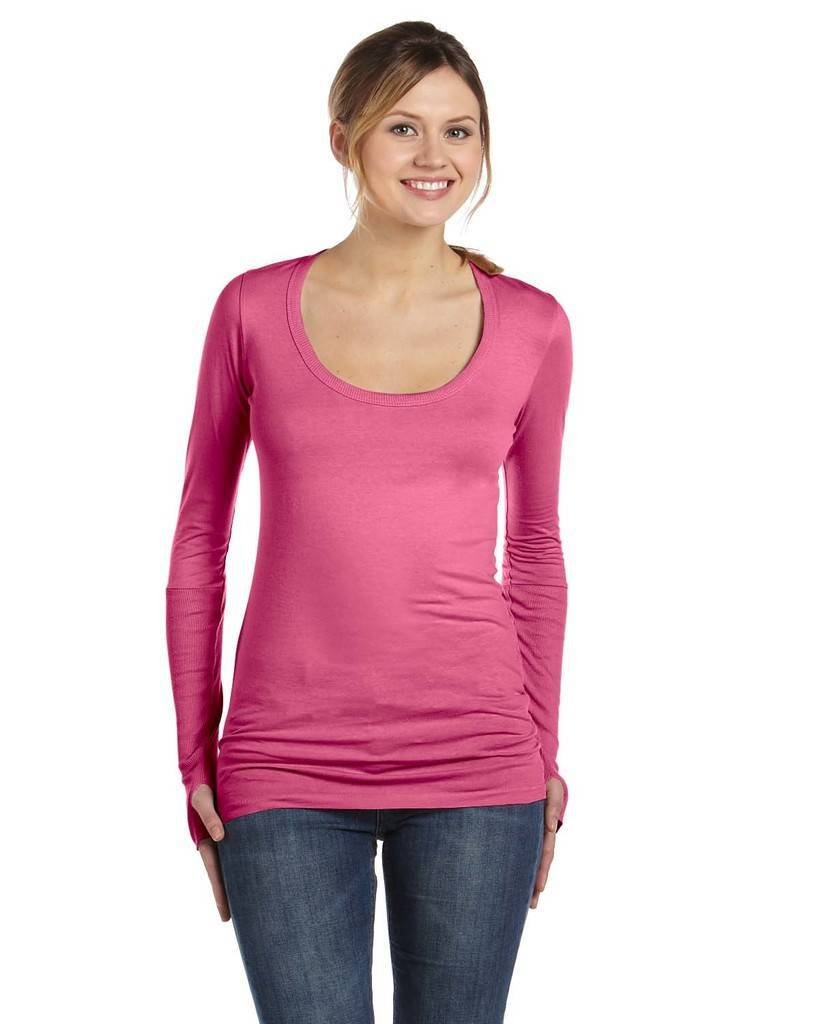 alternative aa4015 ladies 39 rib sleeve scoop neck t shirt