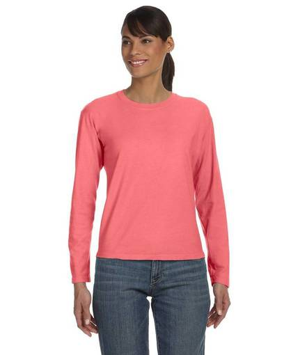 comfort colors c3014 ladies' midweight rs long-sleeve t-shirt Front Fullsize