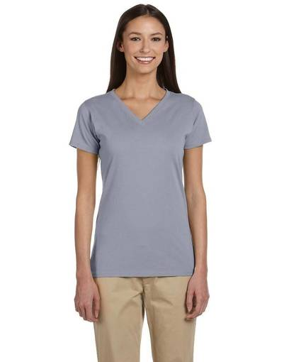 econscious ec3052 ladies' 4.4 oz., 100% organic cotton short-sleeve v-neck t-shirt front image