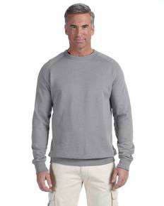 econscious EC5050 7 oz. Organic/Recycled Heathered Fleece Raglan Crew Sweatshirt