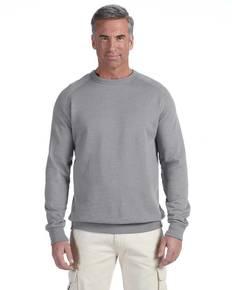 econscious EC5050 7 oz. Organic/Recycled Heathered Fleece Raglan Crew Sweatshirt