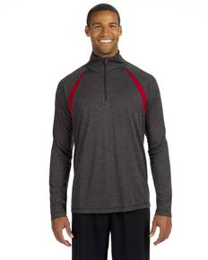 All Sport M3026 Unisex Quarter-Zip Lightweight Pullover with Insets