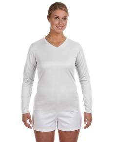 New Balance N7119L Ladies' Ndurance® Athletic Long-Sleeve V-Neck T-Shirt