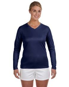New Balance N7119L Ladies' Ndurance® Athletic Long-Sleeve V-Neck T-Shirt