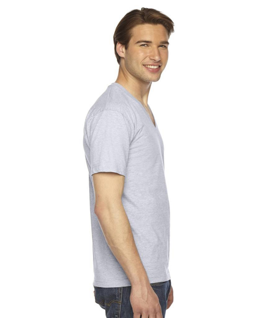 American apparel 2456 unisex fine jersey short sleeve v for American apparel t shirt design